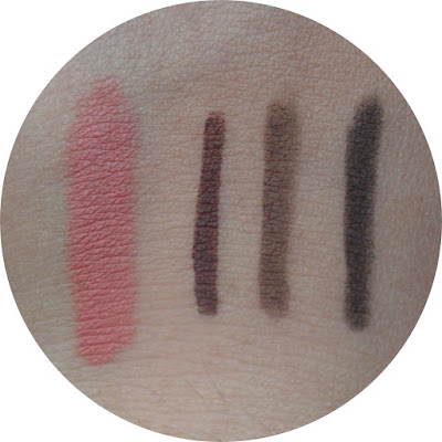 just miss lipstick eyeliner eyebrow pencil review swatch