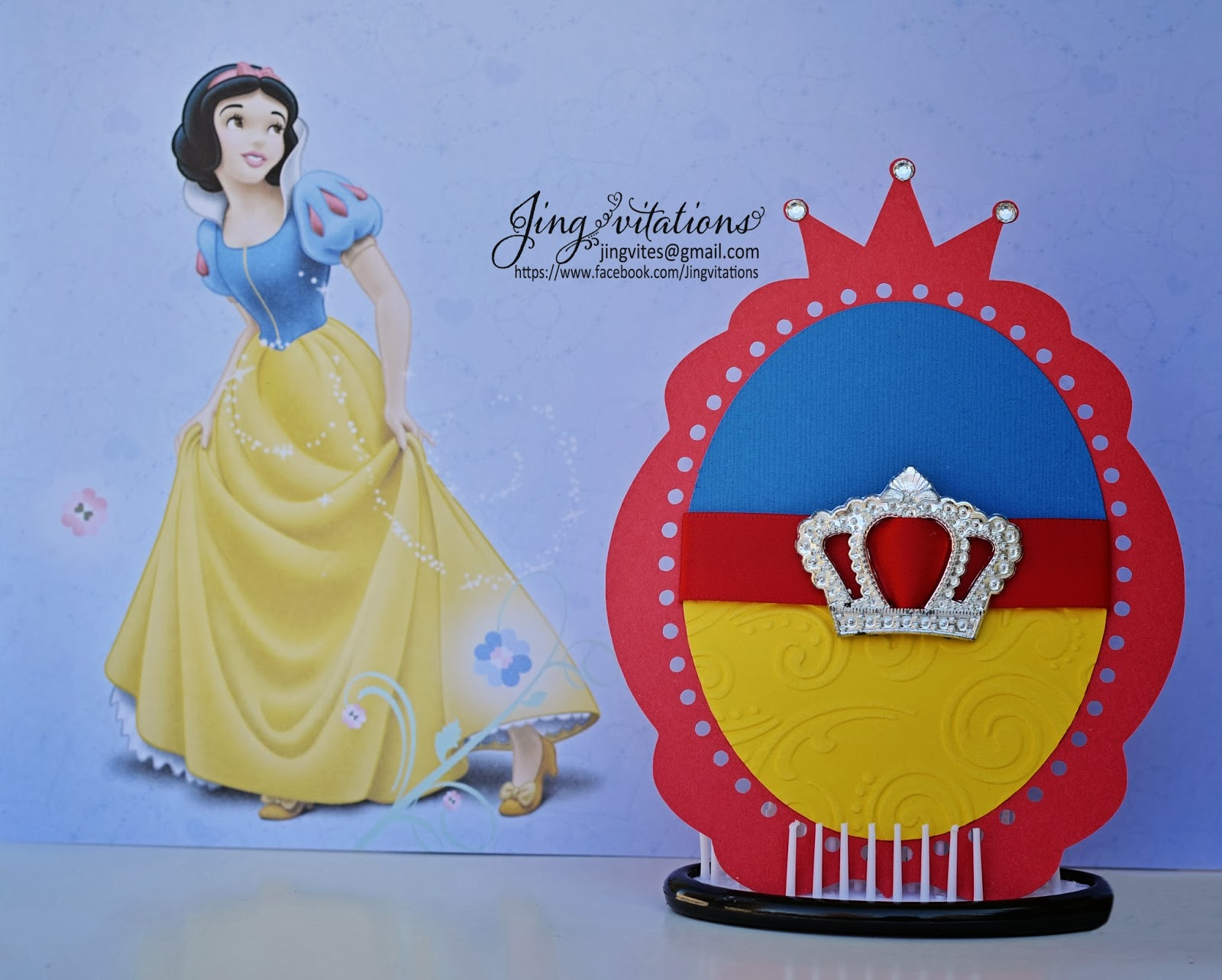 birthday and baby shower invitations handmade snow white party birthday invitations