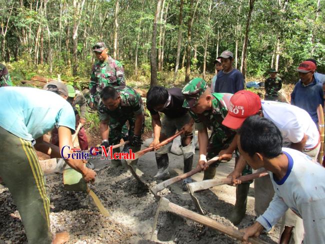 Kunjungan Lokasi TMMD, Dandim 0427 : TMMD Kegiatan Pembangunan Membantu Pemda