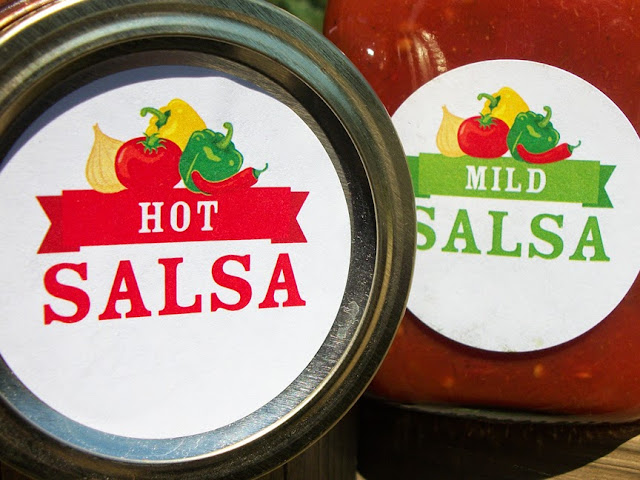 salsa jar labels