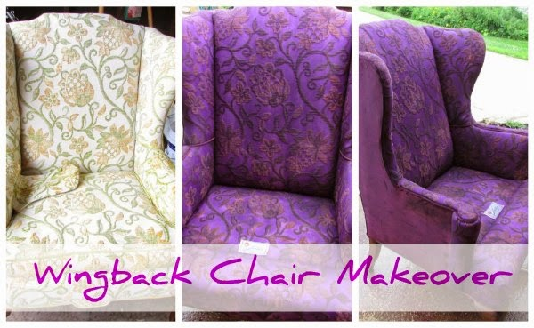 Wingback Chair Makeover @ Rustic Refined.com