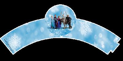 Wrappers para cupcakes de Frozen con Nieve .