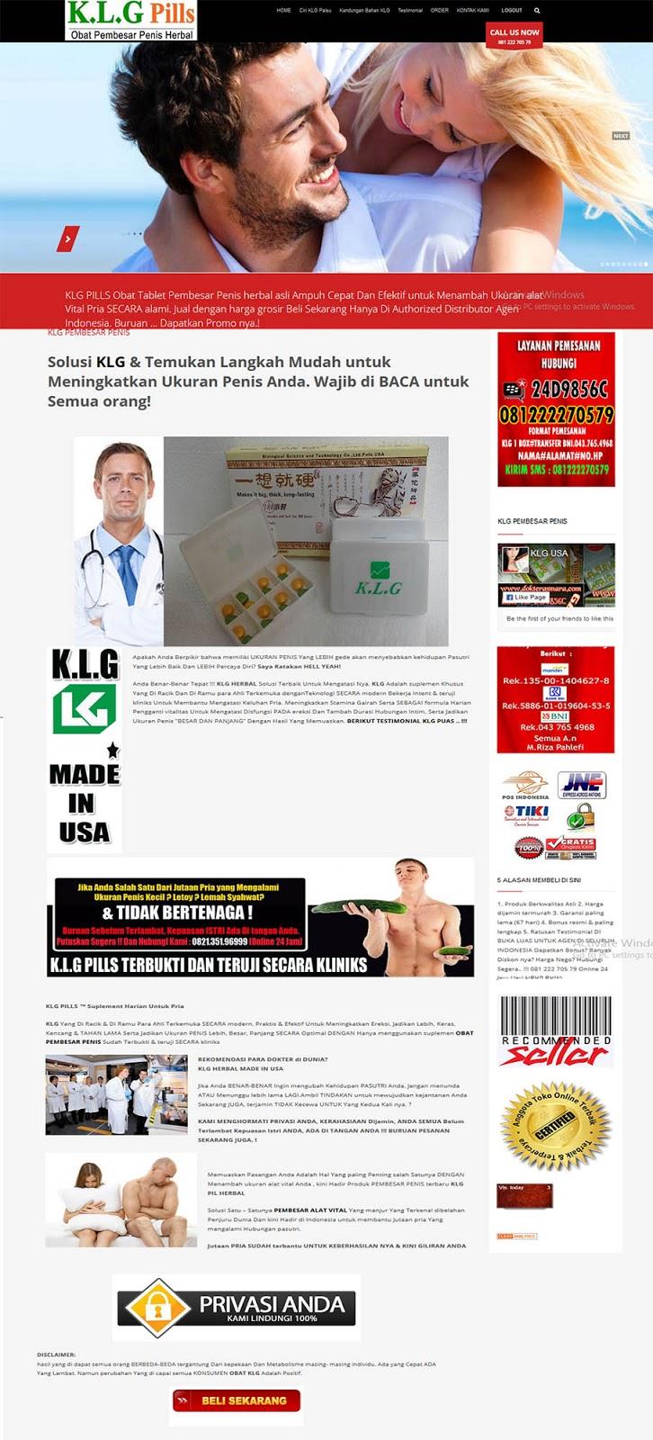 Jasa Pembuatan Landing Page Obat Herbal 2017