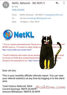 Komisen terkumpul NetKL-Domain dan Hosting