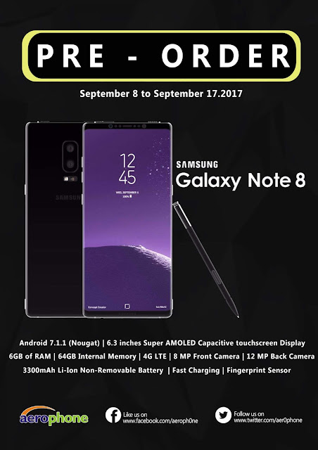 Samsung Galaxy Note8 Philippines Pre-order