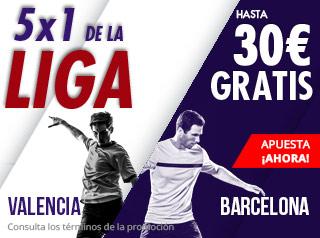 suertia promocion 30 euros Valencia vs Barcelona 7 octubre