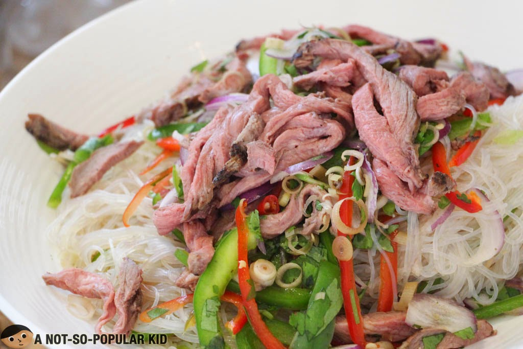 The Thai Beef Salad in F All Day Dining Restaurant