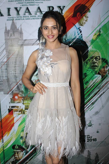 Rakul Preet Singh Stills At Aiyaary Hindi Film Trailer Launch