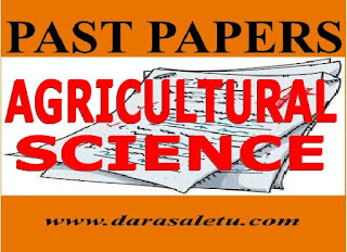 AGRICULTURAL SCIENCE NECTA PAST PAPERS FOR CSEE