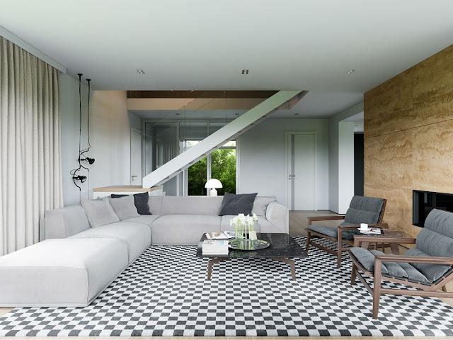 Desain Ruang Tamu Lantai 1