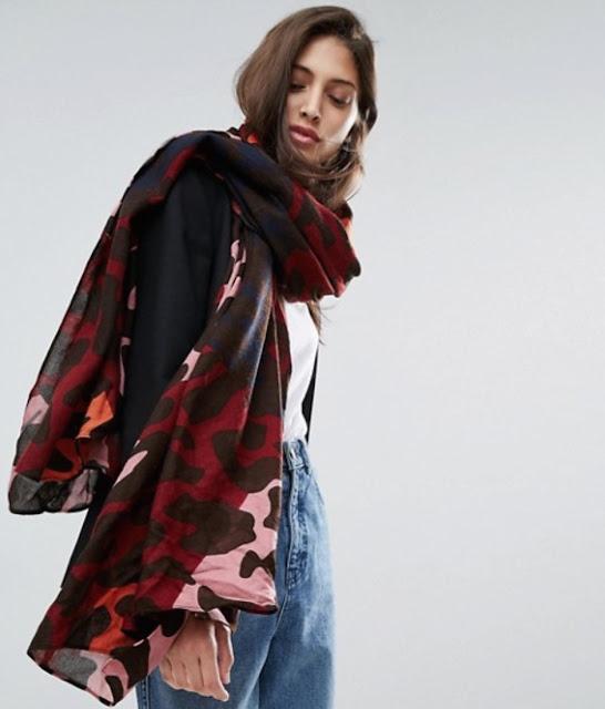 ASOS oversized lightweight leopard print scarf