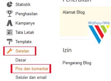 Cara Memberi Link Pada Formulir Komentar Blog