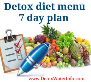 Detox diet personal menu plan to lose weight