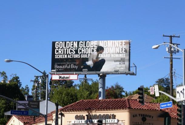 Beautiful Boy Golden Globes billboard