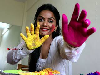 Bollywood Actress and Producer Neetu Chandra Special Po Shoot Gallery in a Dry Holi Celetion  0022.JPG