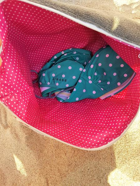 Strandkissen als kleine Tasche