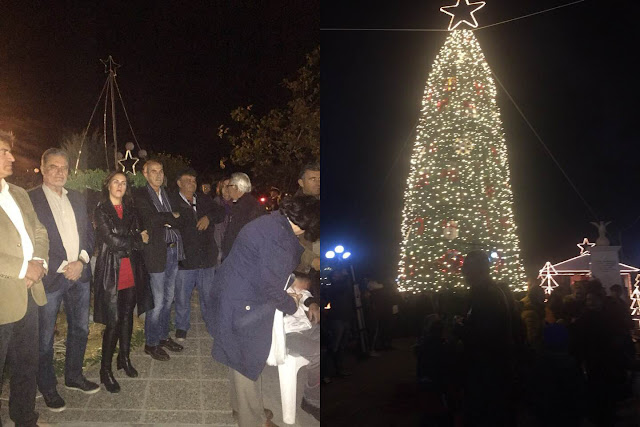 Με κεράσματα και ευχές άναψαν το Χριστουγεννιάτικο δέντρο στη Θερμησία