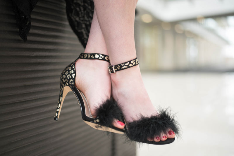 Quiz Leopard Feather Heels