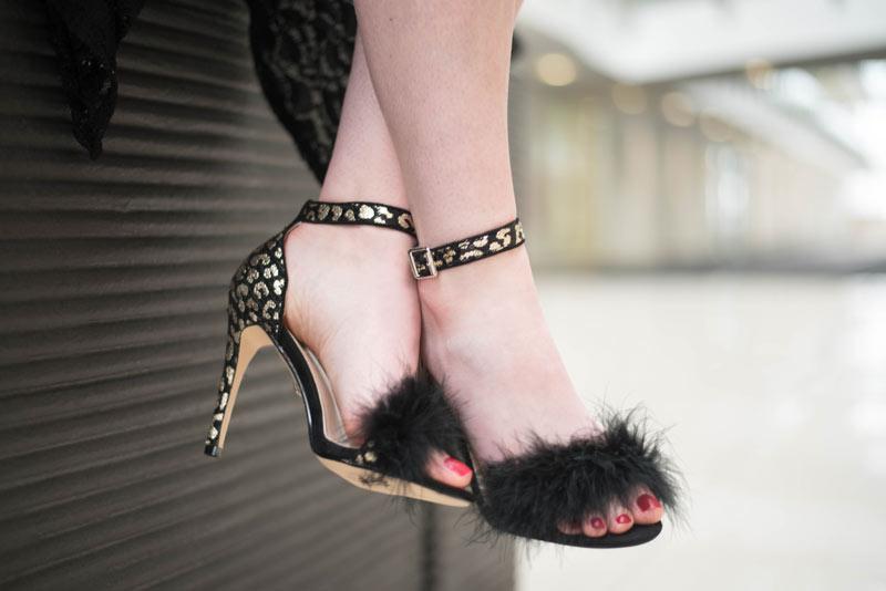 Quiz Leopard Feather Heels