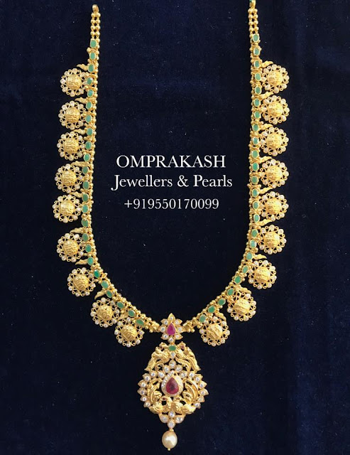 Kasu Mala Designs by Omprakash Jewellers