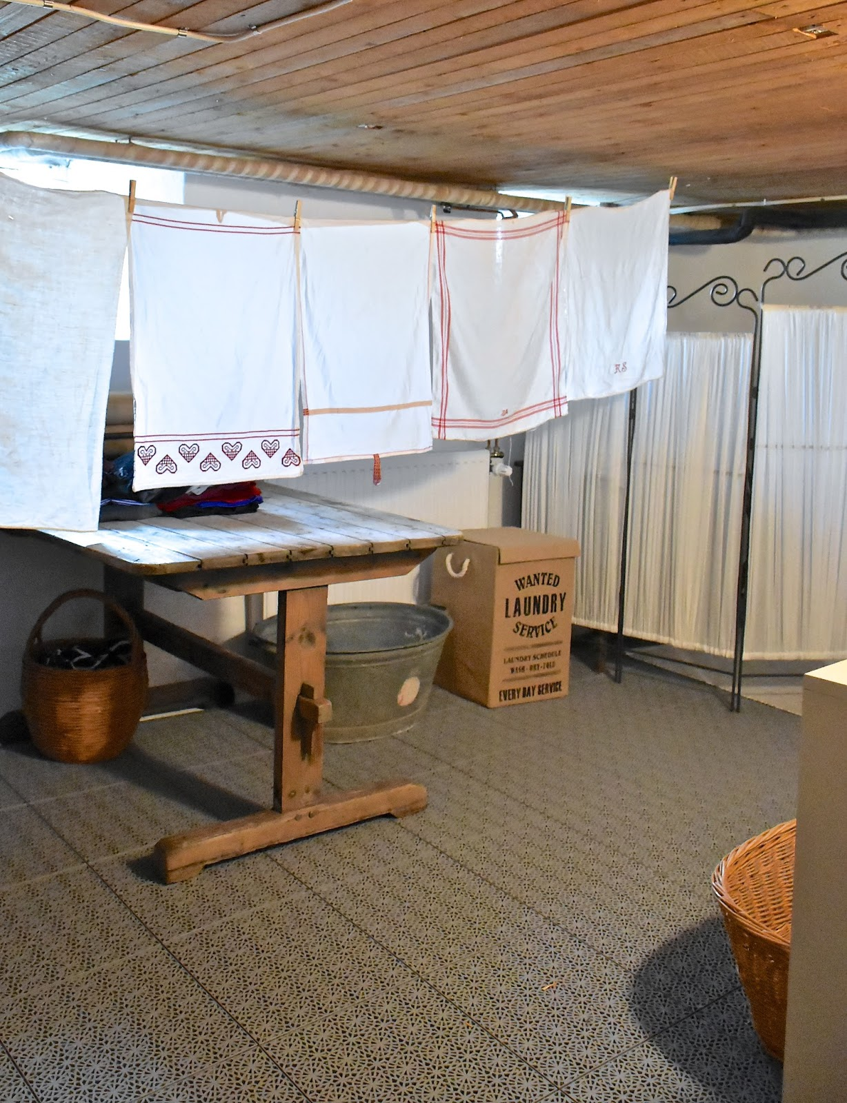 Fröken Gröns Blogg: Tvättstuga