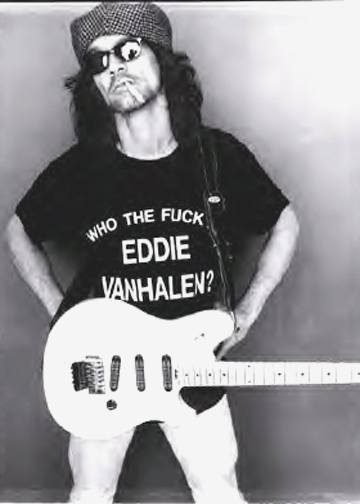 WHO THE FUCK IS EDDIE VAN HALEN as worn by Eddie Van Halen himself.  PYGOD.COM