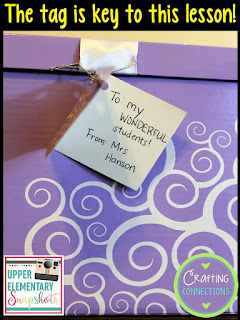 A FREE Dialogue Lesson: Are you wondering how a gift box can be used to teach upper elementary students how to correctly use quotation marks in their writing? Check out this blog post and find out!
