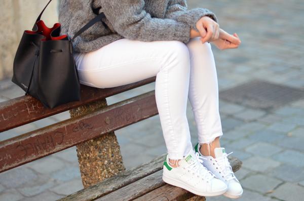 Jean blanc Zara