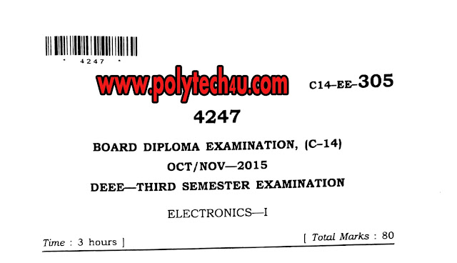 eee c-14 electronics-1 previous question paper oct/nov 2015 pdf for  free download