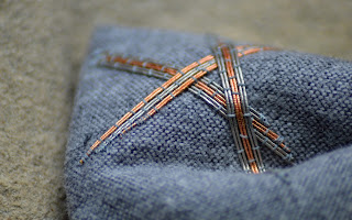 Hanny Newton - Copper and tin on wool blend fabric