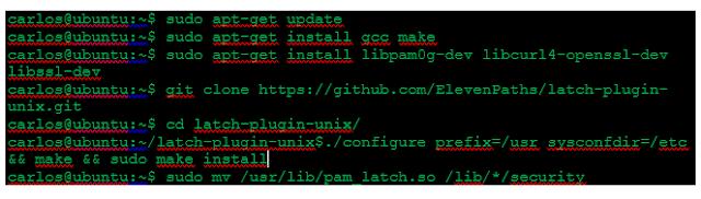 Instalación y configuración de Latch en el Servidor Tacacs+ imagen