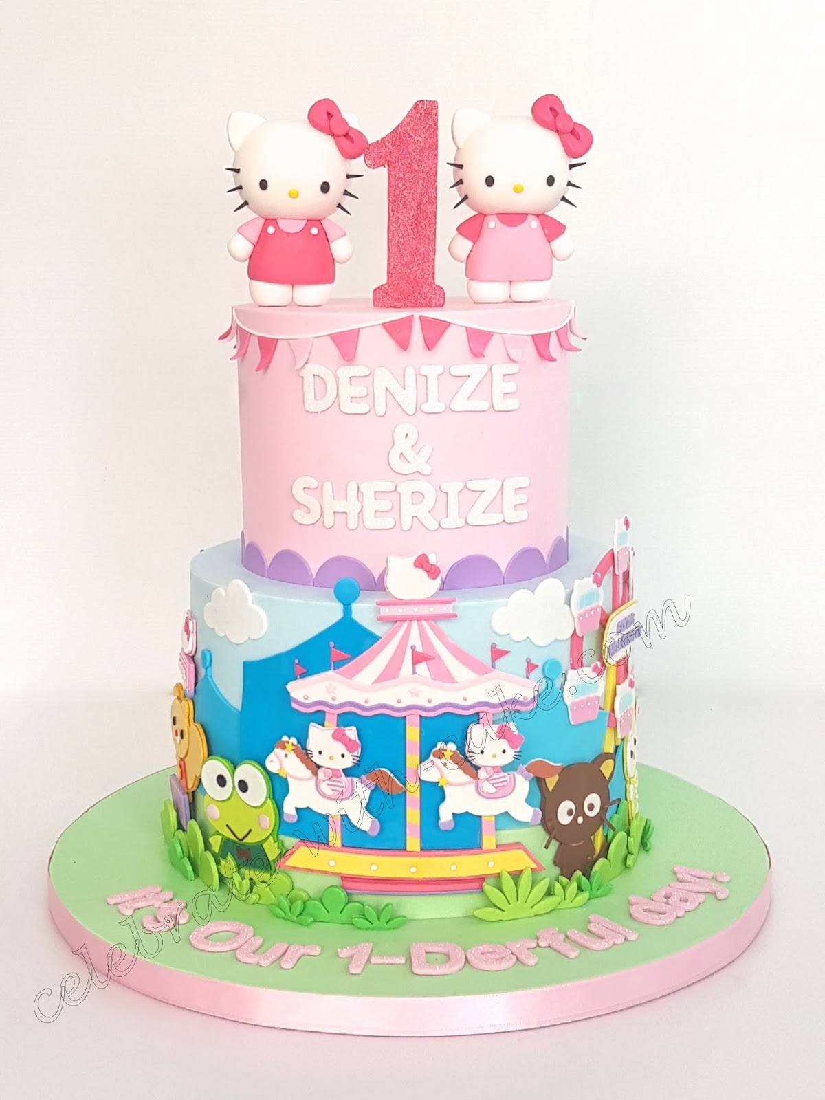 Celebrate With Cake Hello Kitty Carnival 1st Birthday