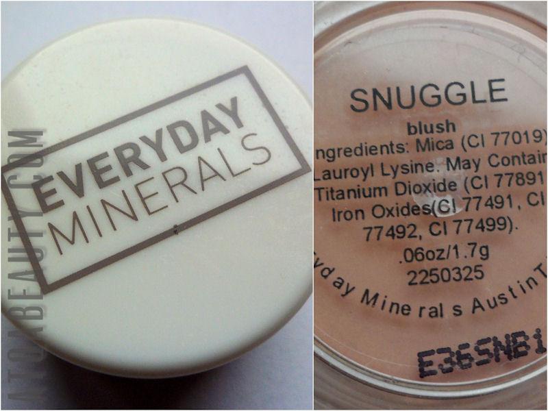 Makijaż :: Mineralnie z Everyday Minerals <br>–recenzja różu Snuggle