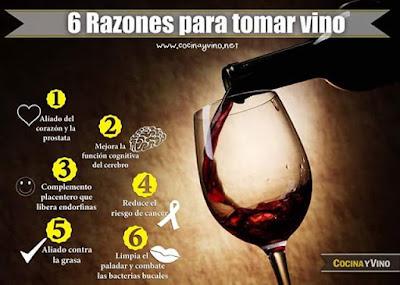 seis razones para tomar vino