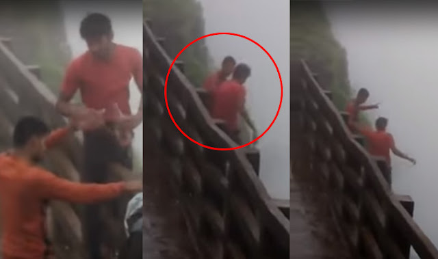 Shocking Video: Two Drunk men bodies recovered after falling into 2000 feet deep valley