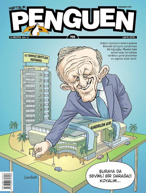 Penguen Dergisi - 11 Ağustos 2016 Kapak Karikatürü