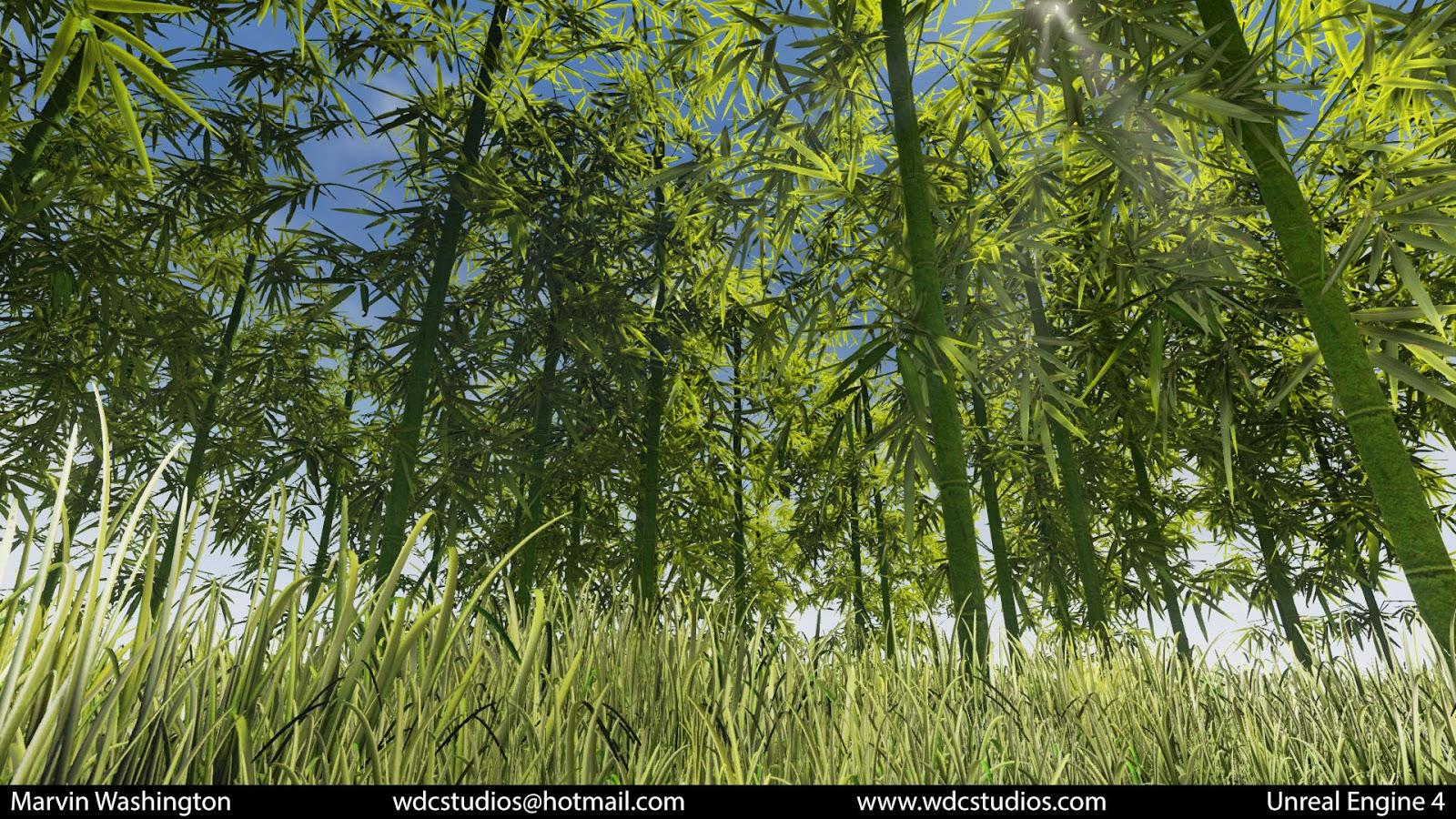 Marvin Washington's Online Gallery: Speedtree UE4 Bamboo Test