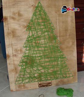albero di natale con la lana