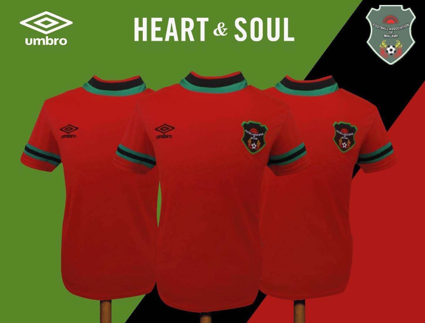 523d72d7a5 Umbro é a nova fornecedora de uniformes da seleção de Malawi - Show ...