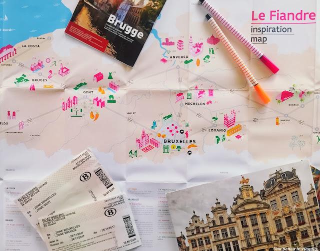 Viaggio nelle Fiandre mappa
