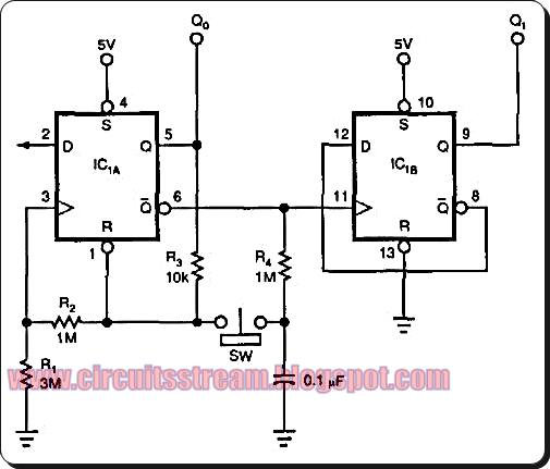 Latch Debouncer Switch Circuit Diagram | Electronic