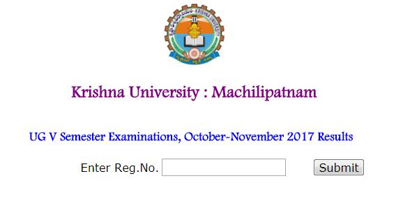 Krishna University Degree Exam Results 2017