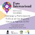 """Foro Internacional """"Liderazgo y Participación Política de las Mujeres. Hacia la Agenda 2030"""""""