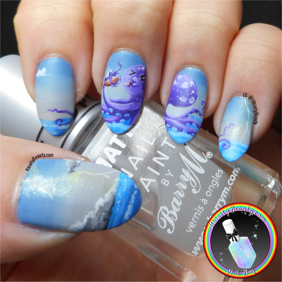 The kissy kracken freehand octopus nail art ithinitybeauty first comes the kiiiissy kissy then comes the eatings prinsesfo Image collections