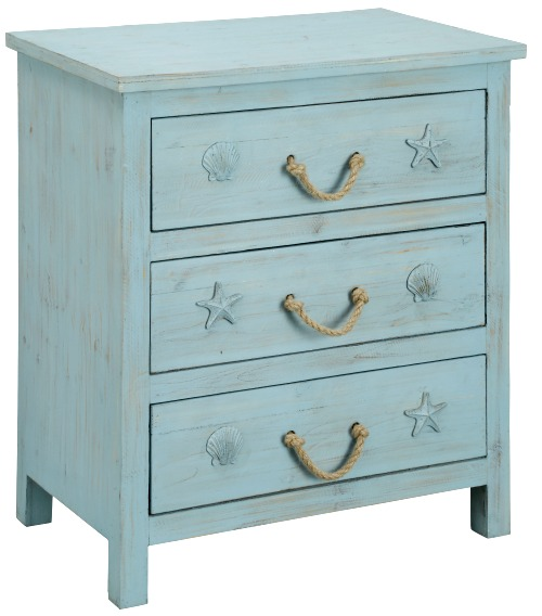 Coastal Dresser with Rope Handles
