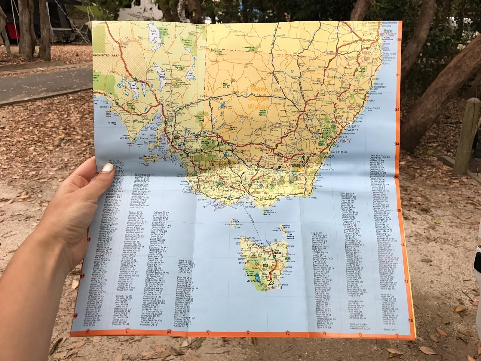 map of east coast australia