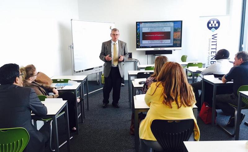 Một lớp học tại Đại học Khoa học Ứng dụng Wittenborg