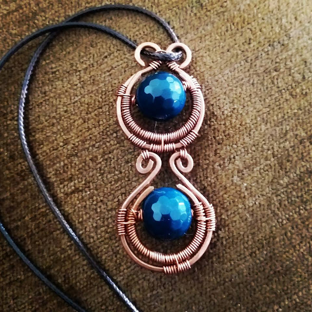 Wire Wrapped Jewellery, Copper Jewelry, Copper Pendants