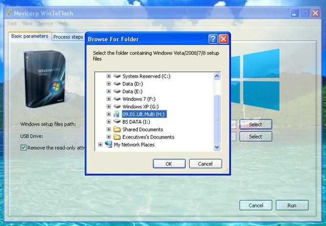 cara install windows 7 ISO dengan flashdisk