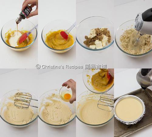 南瓜芝士蛋糕配焦糖汁製作圖 Pumpkin Cheesecake Procedures02